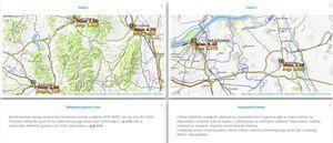 Uporedni prikaz na dve karte